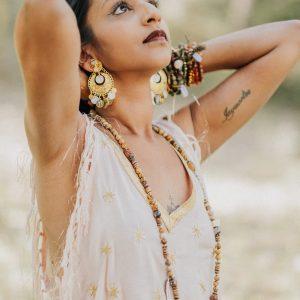 Marie K boucles d oreilles collier