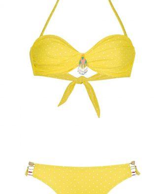 Maillot de bain Amenapih polka yellow