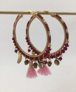 Bijoux Fantaisies Boucles d'Oreilles Melz Rosa de Luxe 2