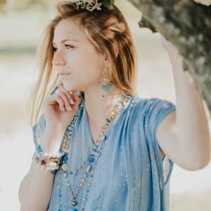 Marie K Robe Sundress Collier Boucles d oreilles Hypnochic