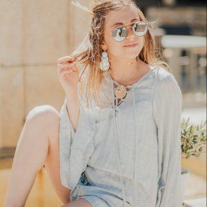Marie K Blouse Short Sundress Collier Boucles d oreilles Gas Bijoux Bague Close to Zen
