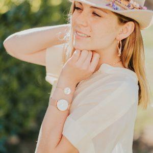 Marie K Chapeau Hypnochic Montre Cluse Bracelet Boucles d oreilles Bronzallure