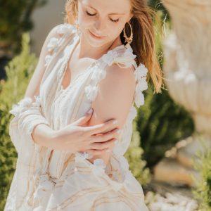 Marie K Robe Sundress Boucles d oreilles Melz Bracelet Opale