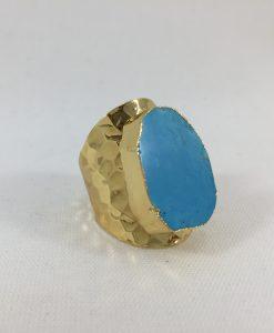 Bijoux fantaisies Bague Hypnochic Turquoise