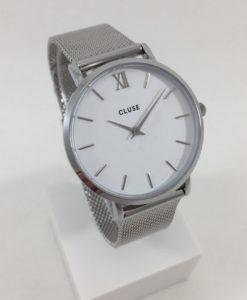 Montre Cluse Minuit Mesh Silver