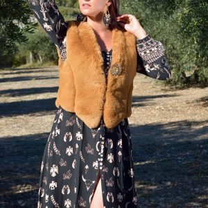 Marie K Gilet Amenapih Robe Sand Coachella Boucles d'oreilles Satellite