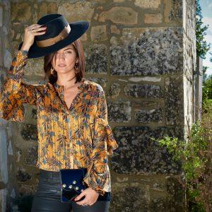 Marie K Chemise pochette et chapeau Amenapih