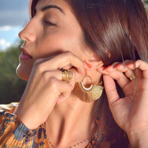 Marie K Collier Boucles d'oreilles Hypnochic Bague Zag