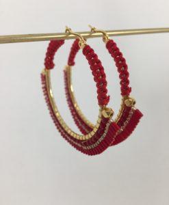Bijoux Fantaisies Boucles d'Oreilles Melz Ruby Médium 5