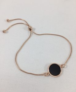 Bijoux Fantaisies Bracelet Bronzallure Alba Black