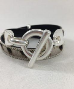 Bijoux Fantaisies Bracelet Secret de Cuir Zèbre