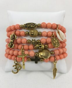 Bijoux Fantaisies Bracelet T'as Vu La Vierge Corail