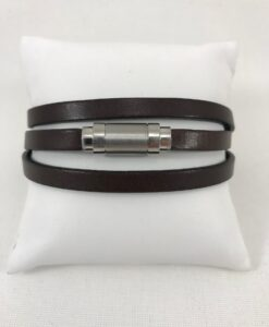 Bracelet Magnum Magnetic 3 tours Marron