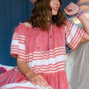 Marie K bijoux et chapeau Hypnochic robe Sundress