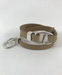 Bijoux Fantaisies Bracelet Secret de Cuir 2 Marines