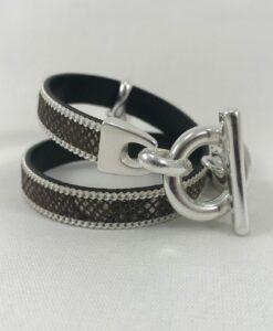 Bijoux Fantaisies Bracelet Secret de Cuir Serpent 2