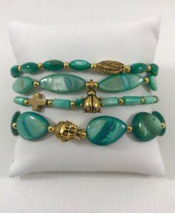 Bijoux fantaisies Bracelet T'as vu la Vierge Green