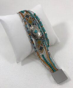 Bijoux Fantaisies Bracelet Hipanema Eldorado Turquoise