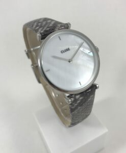 Montre Cluse Triomphe Silver Soft Grey Python