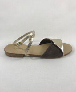 Chaussures Les Paresseuses Sandales Doré