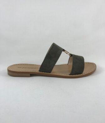 Chaussures Les Paresseuses Sandales Kaki