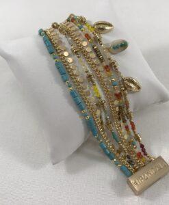 Bijoux Fantaisies Bracelet Hipanema Appolon Turquoise