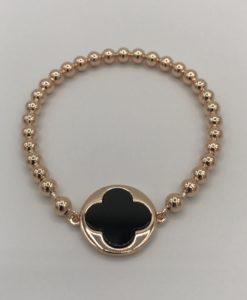 Bijoux Fantaisies Bracelet Bronzallure Clover Black