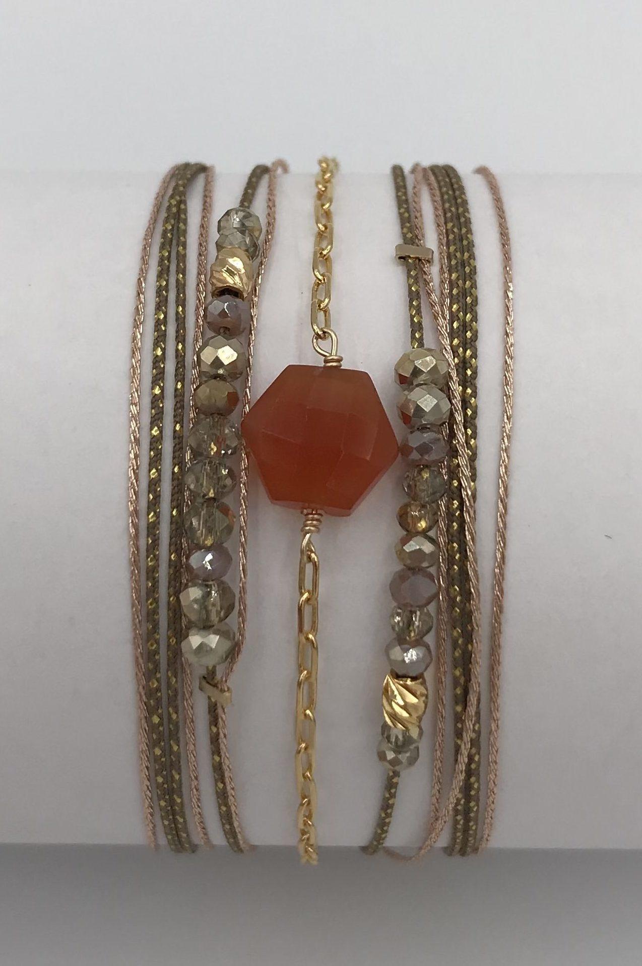 Bracelet Hipanema Robinson Blush | Marie K, boutique de