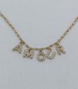 Bijoux Fantaisies Collier Amulette Amour Or