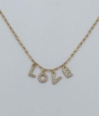 Bijoux Fantaisies Collier Amulette Love Or