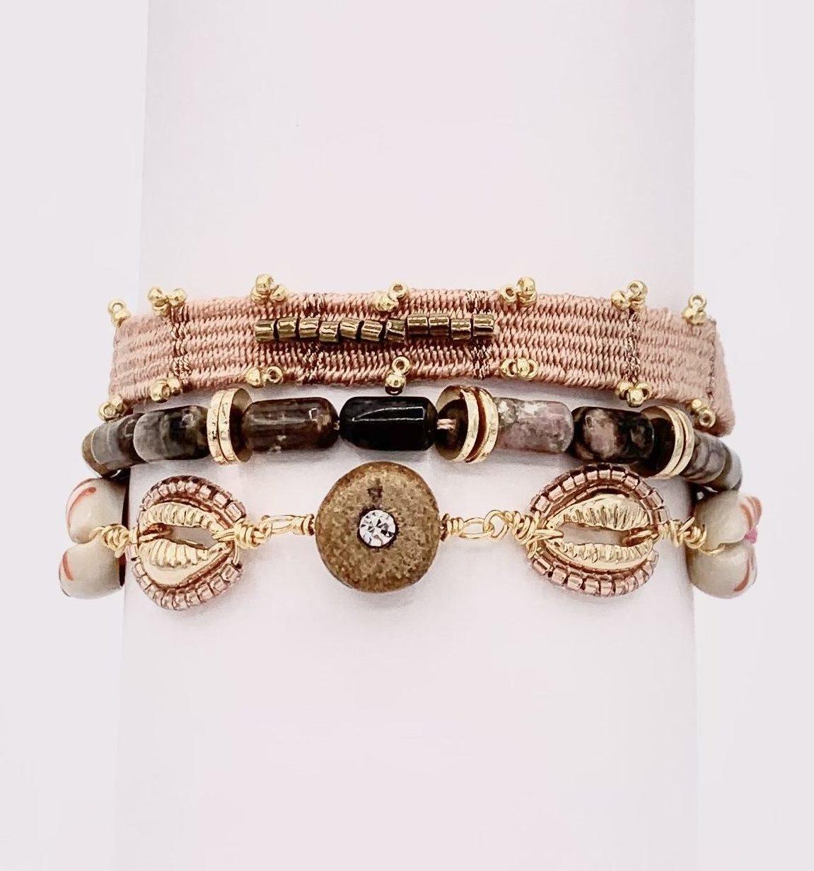 BO Hypnochic Pompon Nude | Marie K Boutique de bijoux