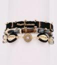 Bijoux Fantaisies Bracelet Hipanema Robinson Black