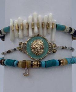 Bijoux Fantaisies Bracelet Hipanema Tomahawk Turquoise