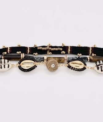 Bijoux Fantaisies Bracelet Hipanema Robinson Black