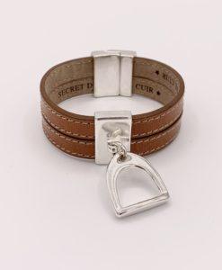Bijoux Fantaisies Bracelet Secret de Cuir Etrier 2