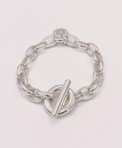 Bijoux Fantaisies Bracelet Secret de Cuir Maille Ronde