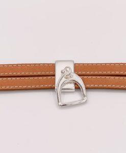 Bijoux Fantaisies Bracelet Secret de Cuir Etrier