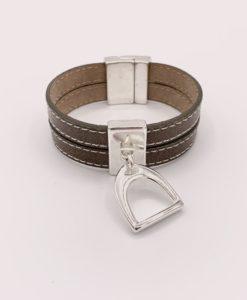 Bijoux Fantaisies Bracelet Secret de Cuir Etrier 3