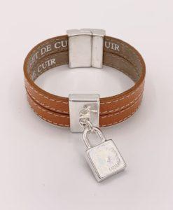 Bijoux Fantaisies Bracelet Secret de Cuir Cadenas