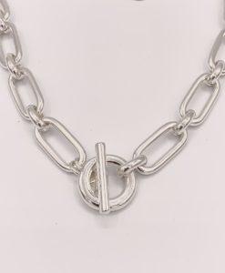 Bijoux Fantaisies Collier Secret de Cuir Maille Rectangle