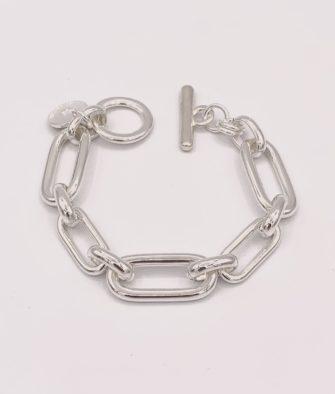 Bijoux Fantaisies Bracelet Secret de Cuir Maille Rectangle