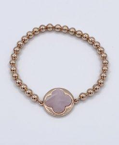 Bijoux Fantaisies Bracelet Bronzallure Clover Pink